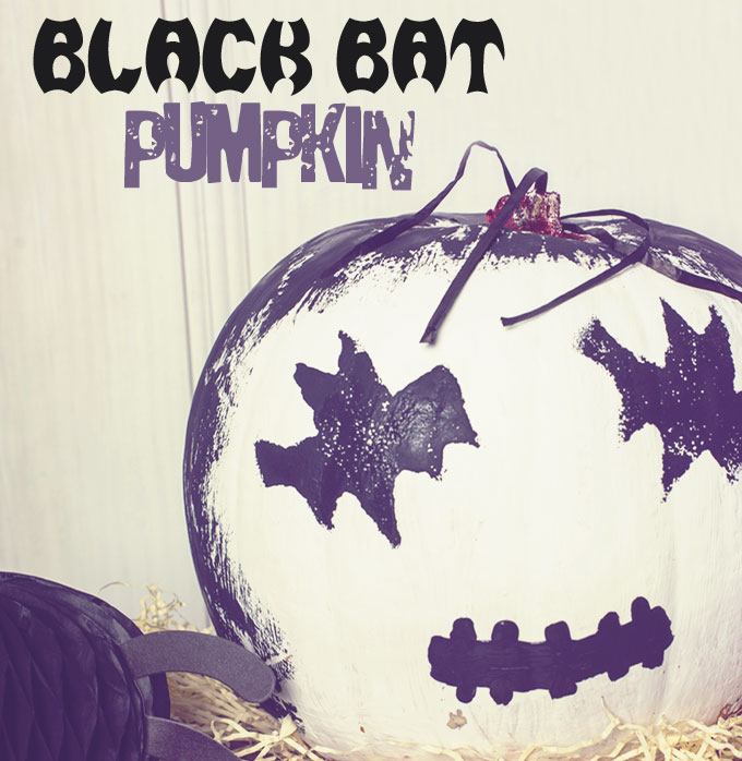 No-Carve Halloween Pumpkins:Black Bat Pumpkin