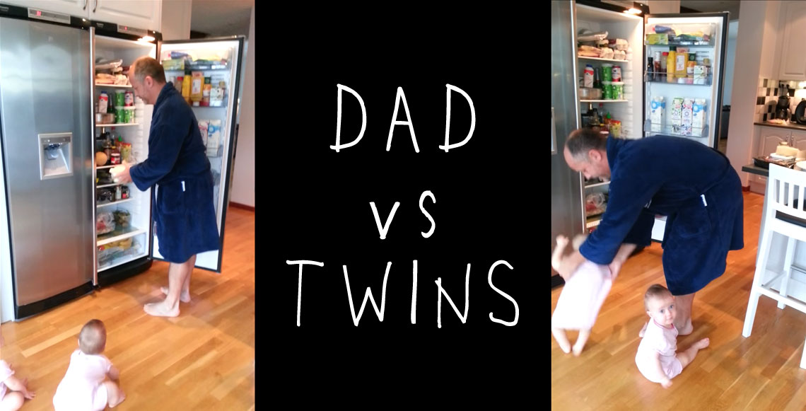 Twins Test Their Dad's Patience At Breakfast Time