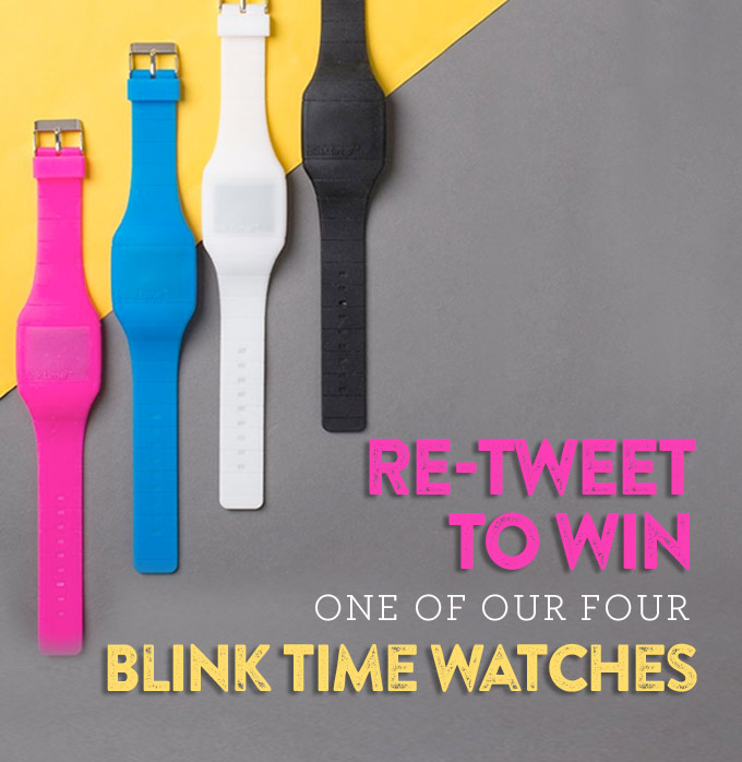 WIN one of four BlinkTime Watches