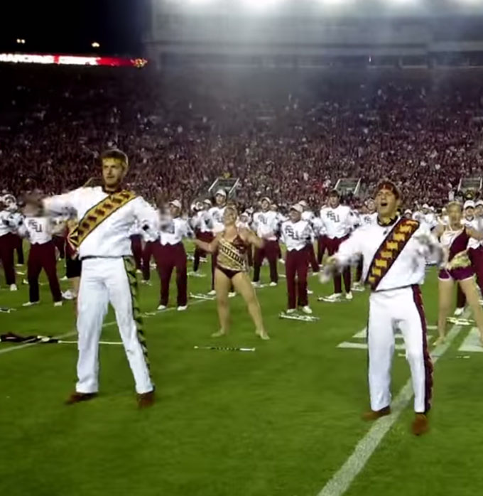Marching Band Perform Beyonce's Single Ladies