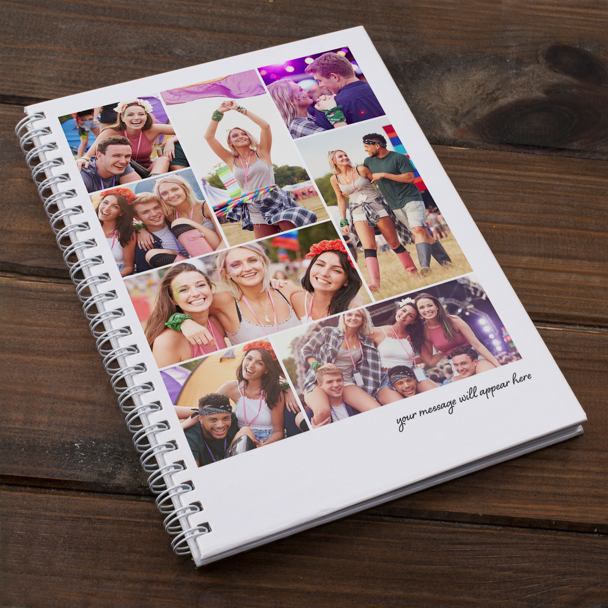 Photo Upload Notebook  8 Photos & A Message