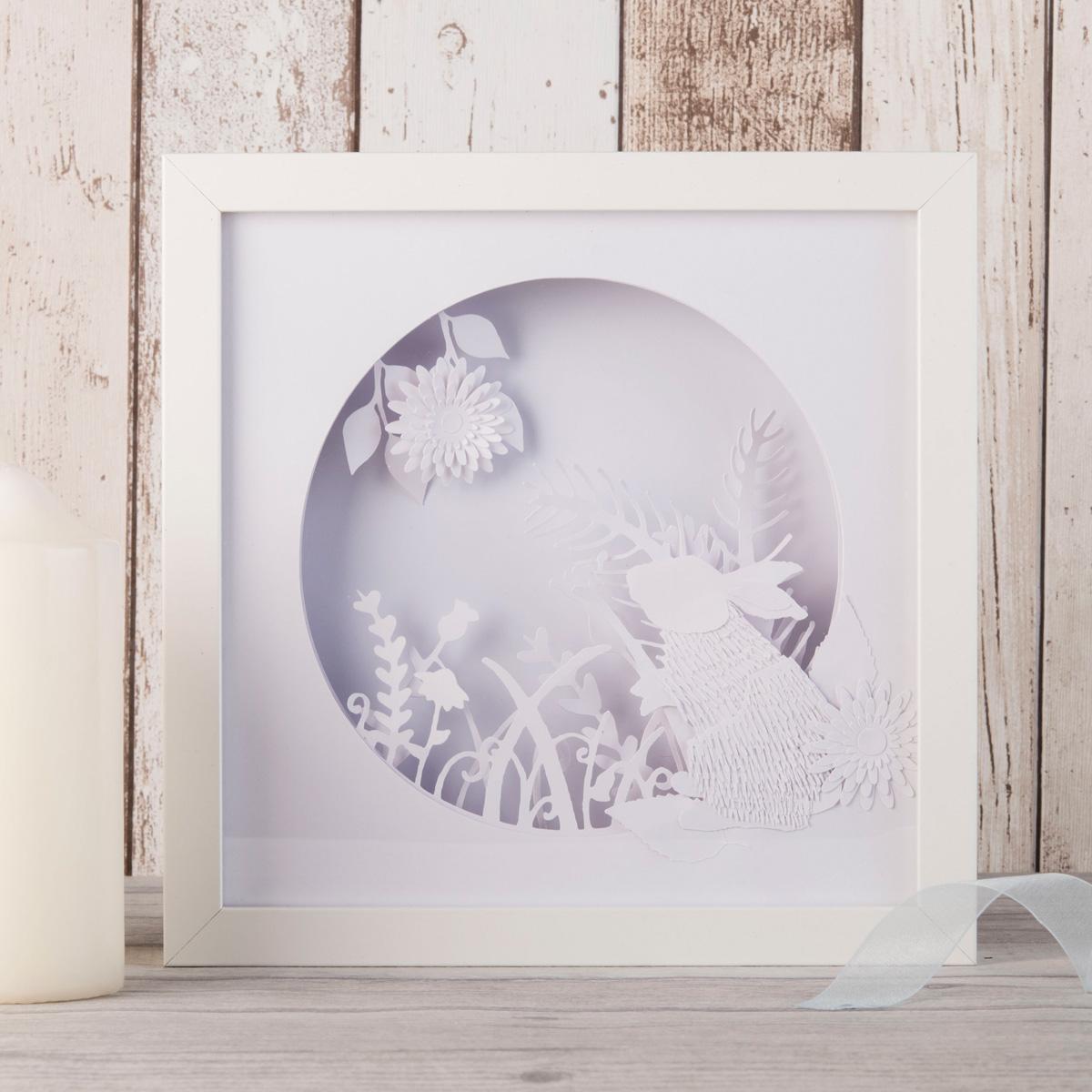 Image of Bunny Rabbit Framed Papercut Mood Light