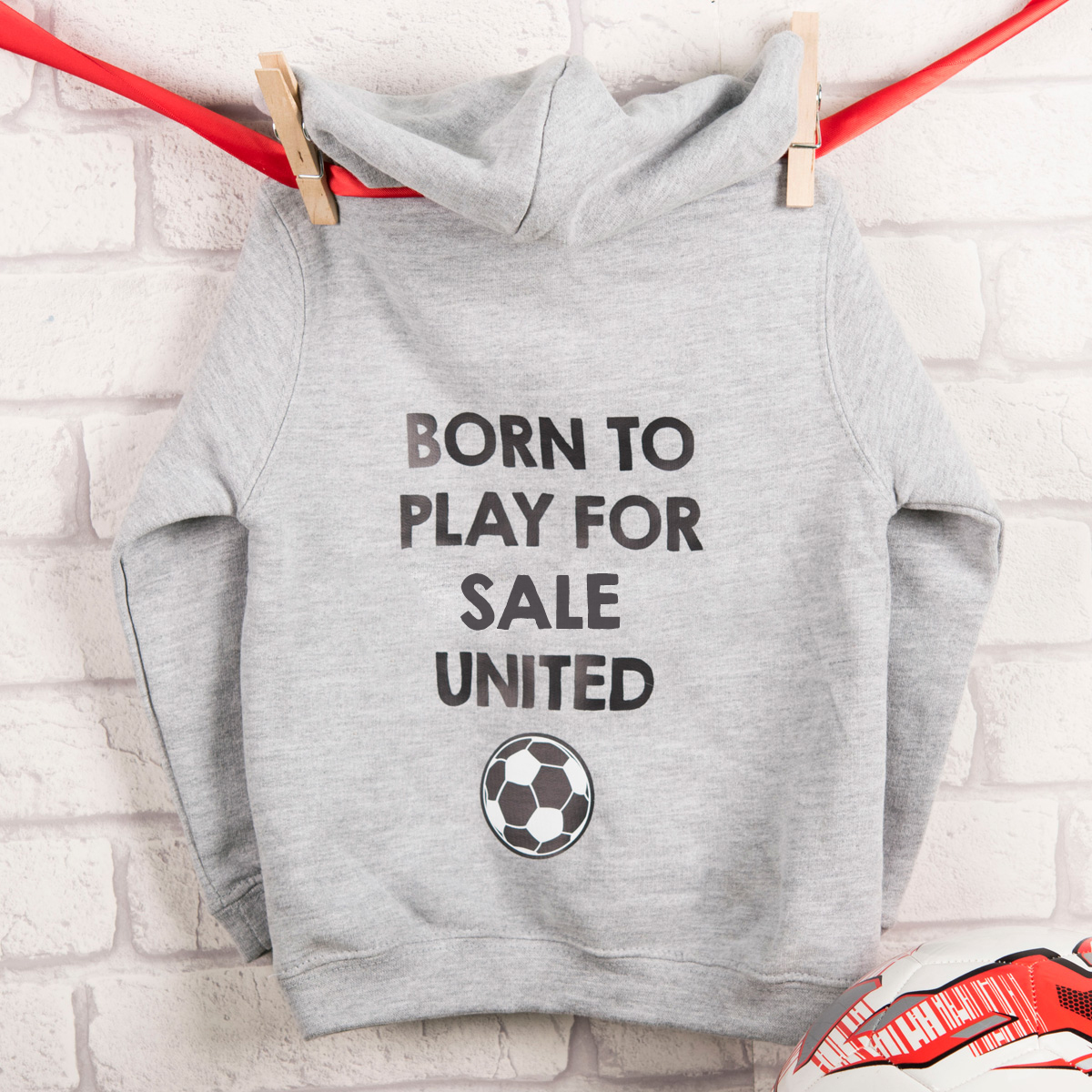 Personalised Kid\'s Hoodie - Born To Play For