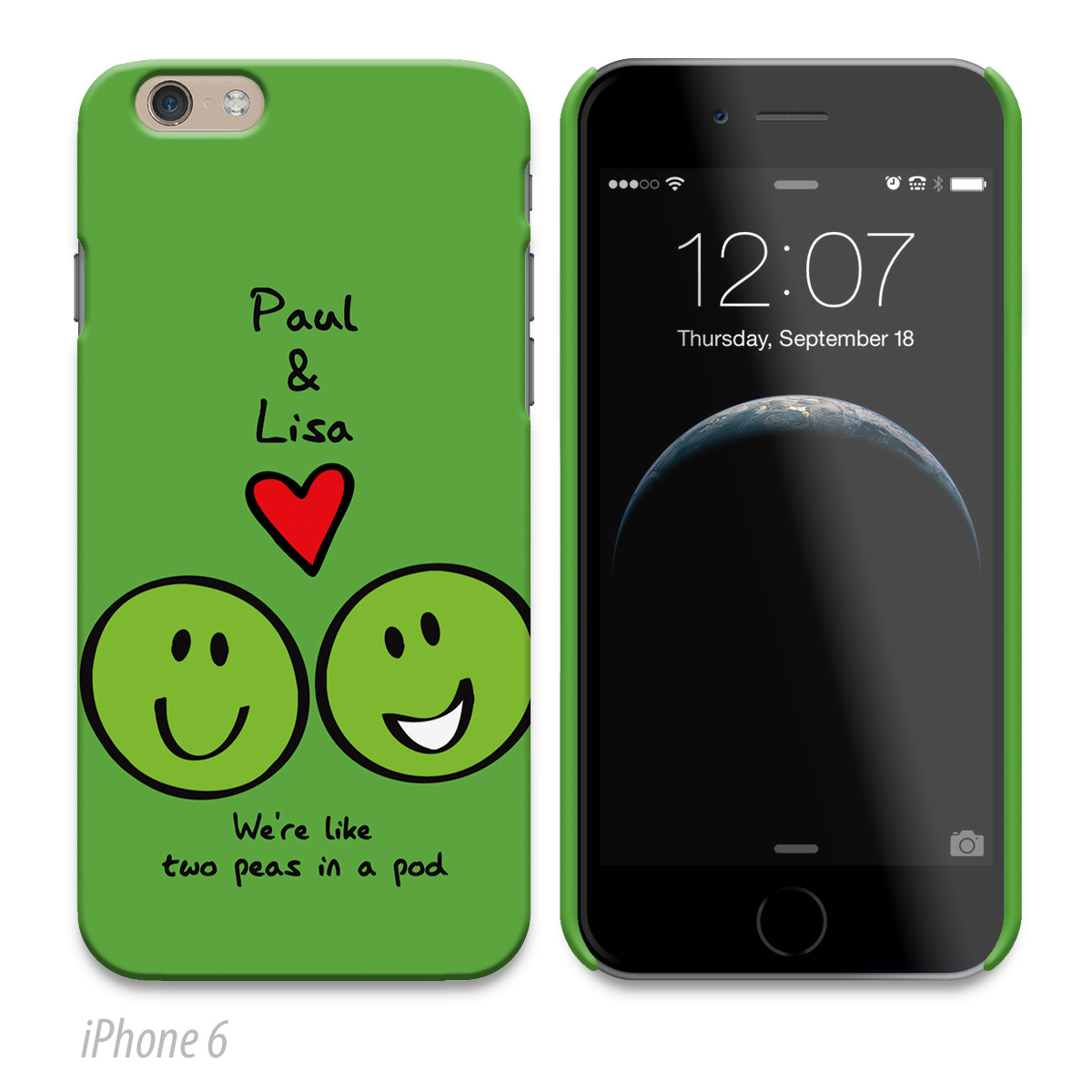 Personalised Phone Cover - Peas In A Pod
