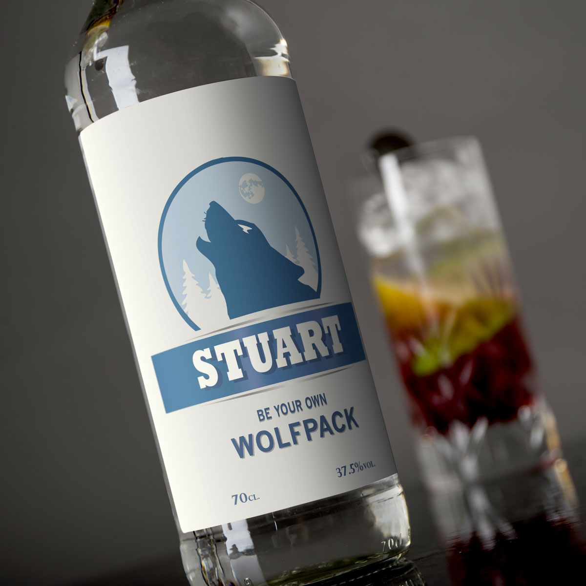 Personalised Vodka  Wolfpack