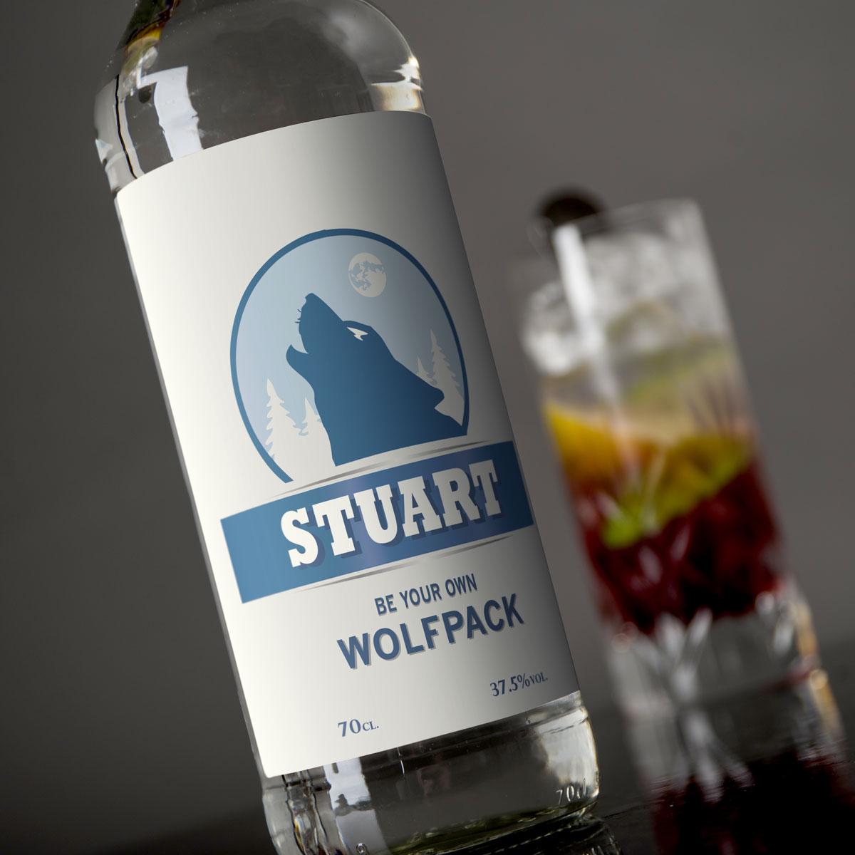 Personalised Vodka  Wolfpack