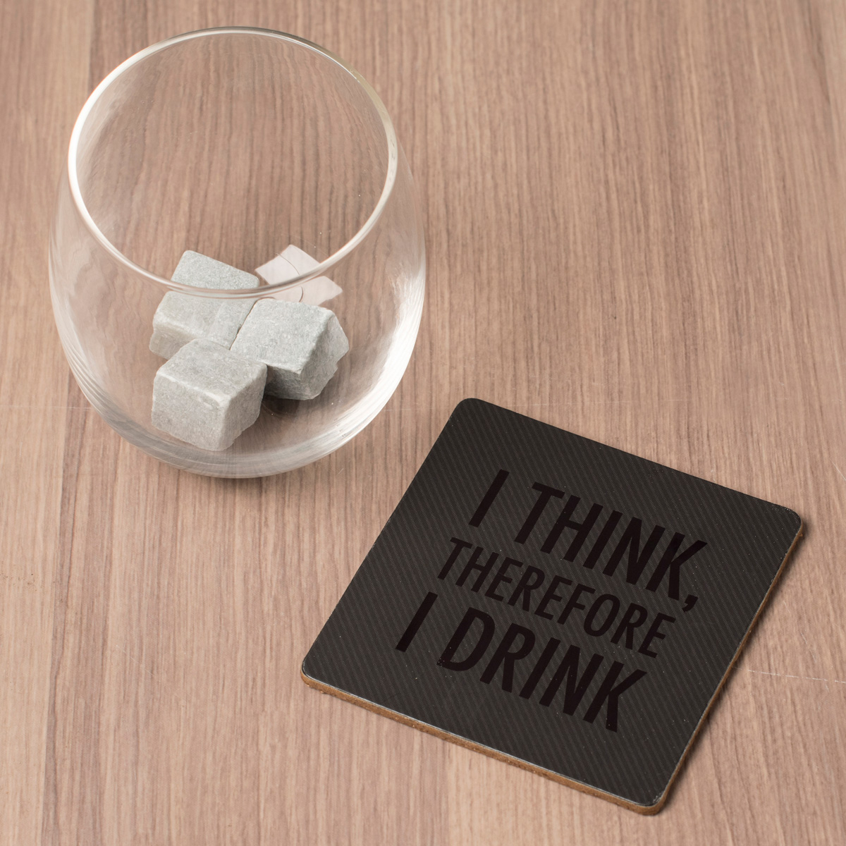 Glass Coaster & Rock Set