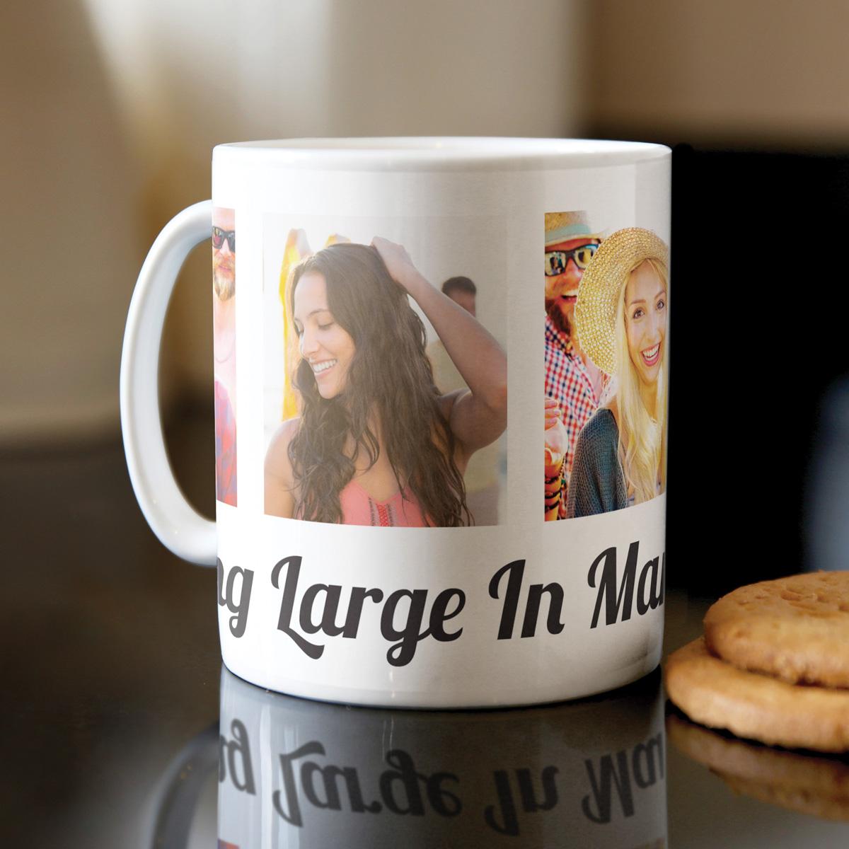 Photo Upload Mug  4 Photos & Message