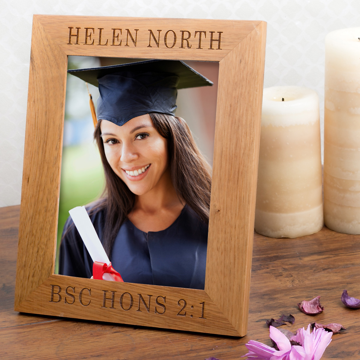 Personalised Wooden Photo Frame  Degree