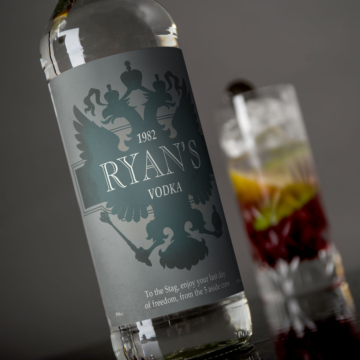 Personalised Vodka  Eagle Design