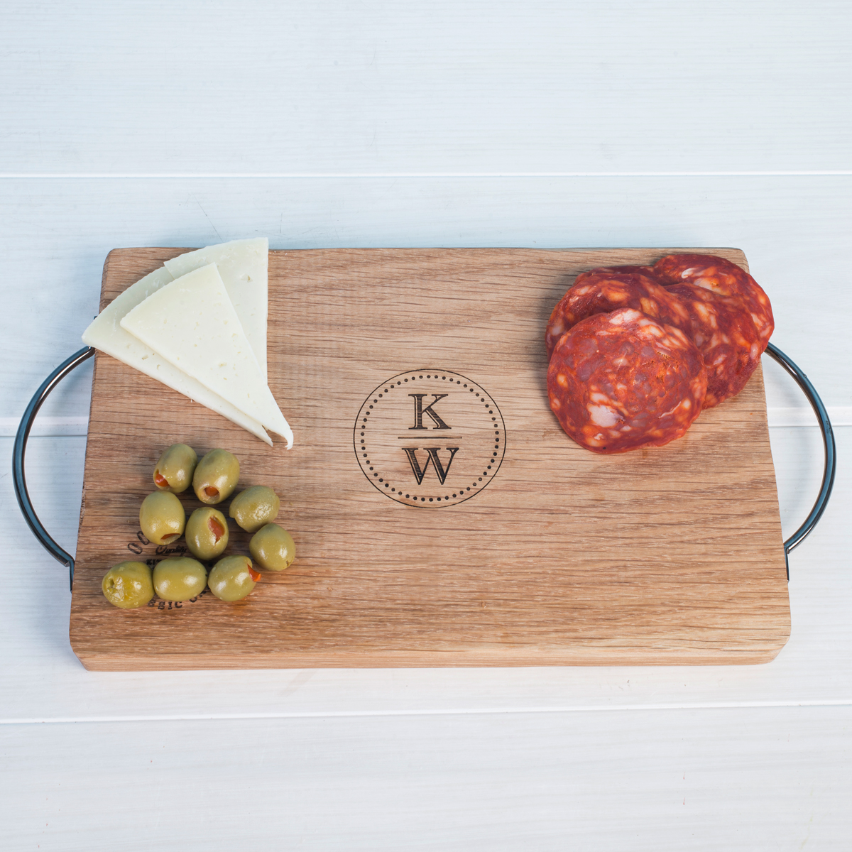 Personalised Small Rustic Oak Chopping Board