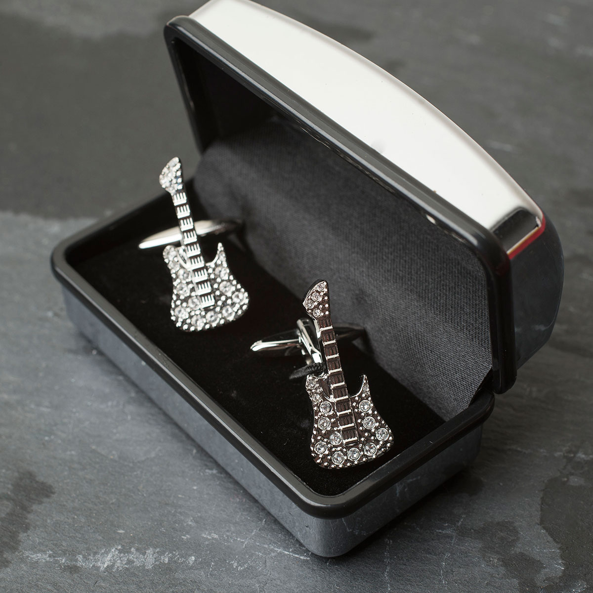 Crystal Guitar Cufflinks