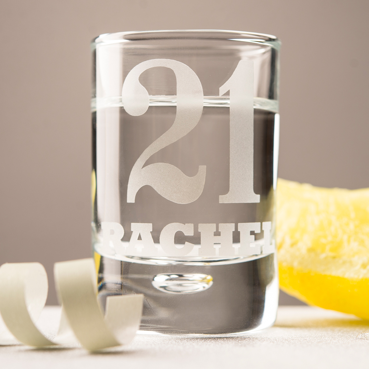 Personalised Shot Glass With Miniature  21