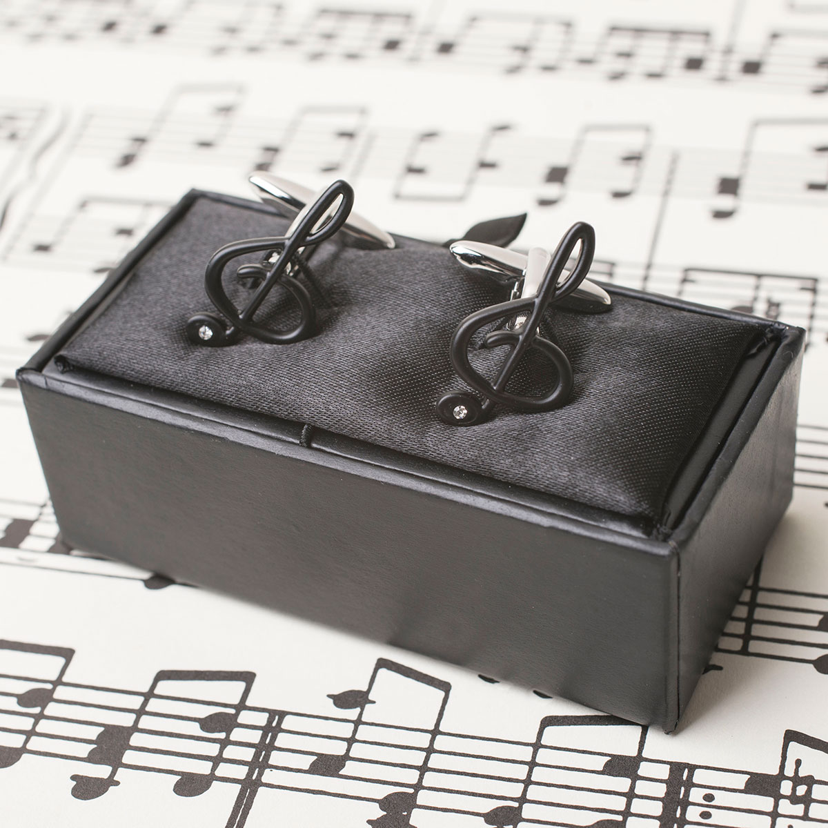 Treble Clef Musical Note Cufflinks
