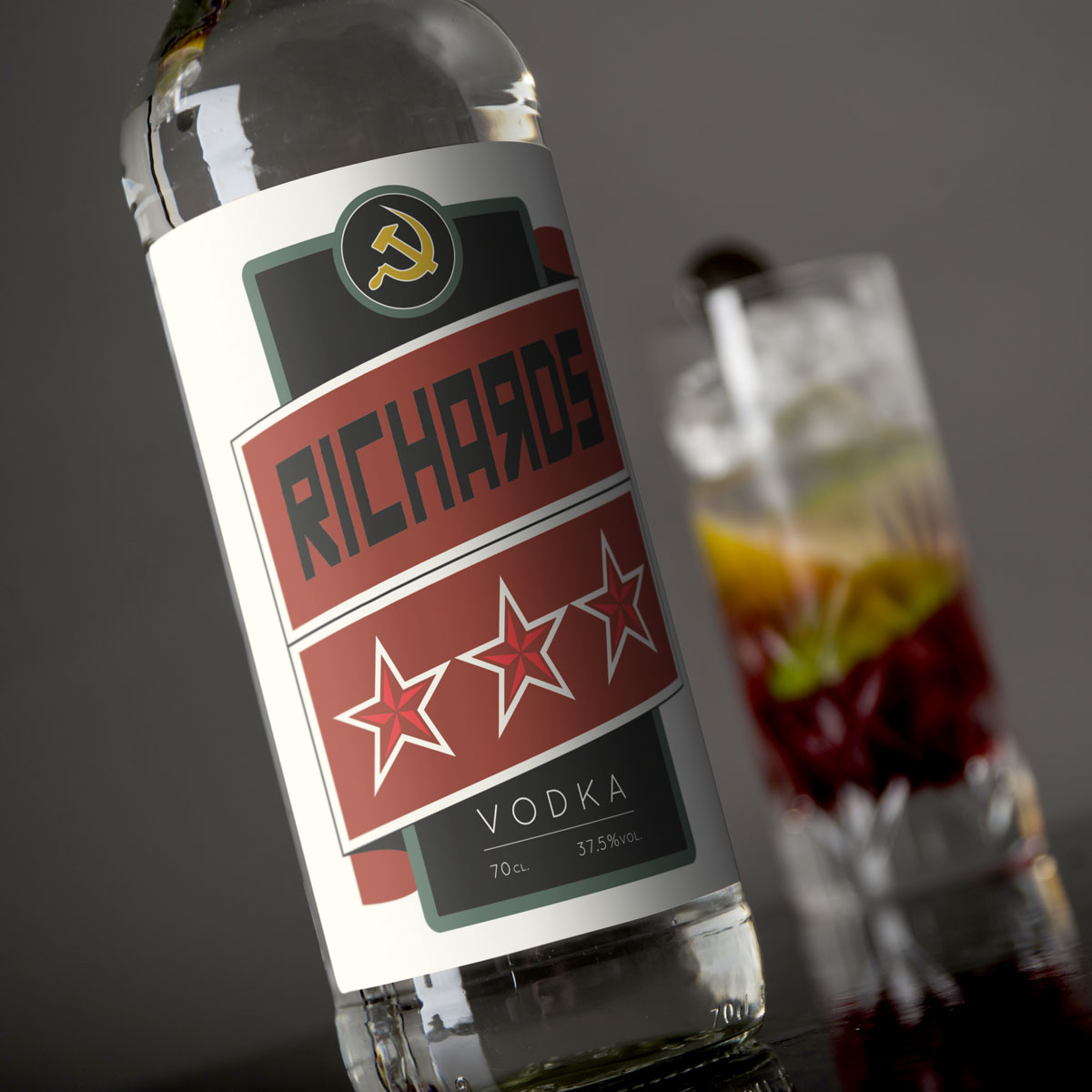 Personalised Vodka  Russian Stars