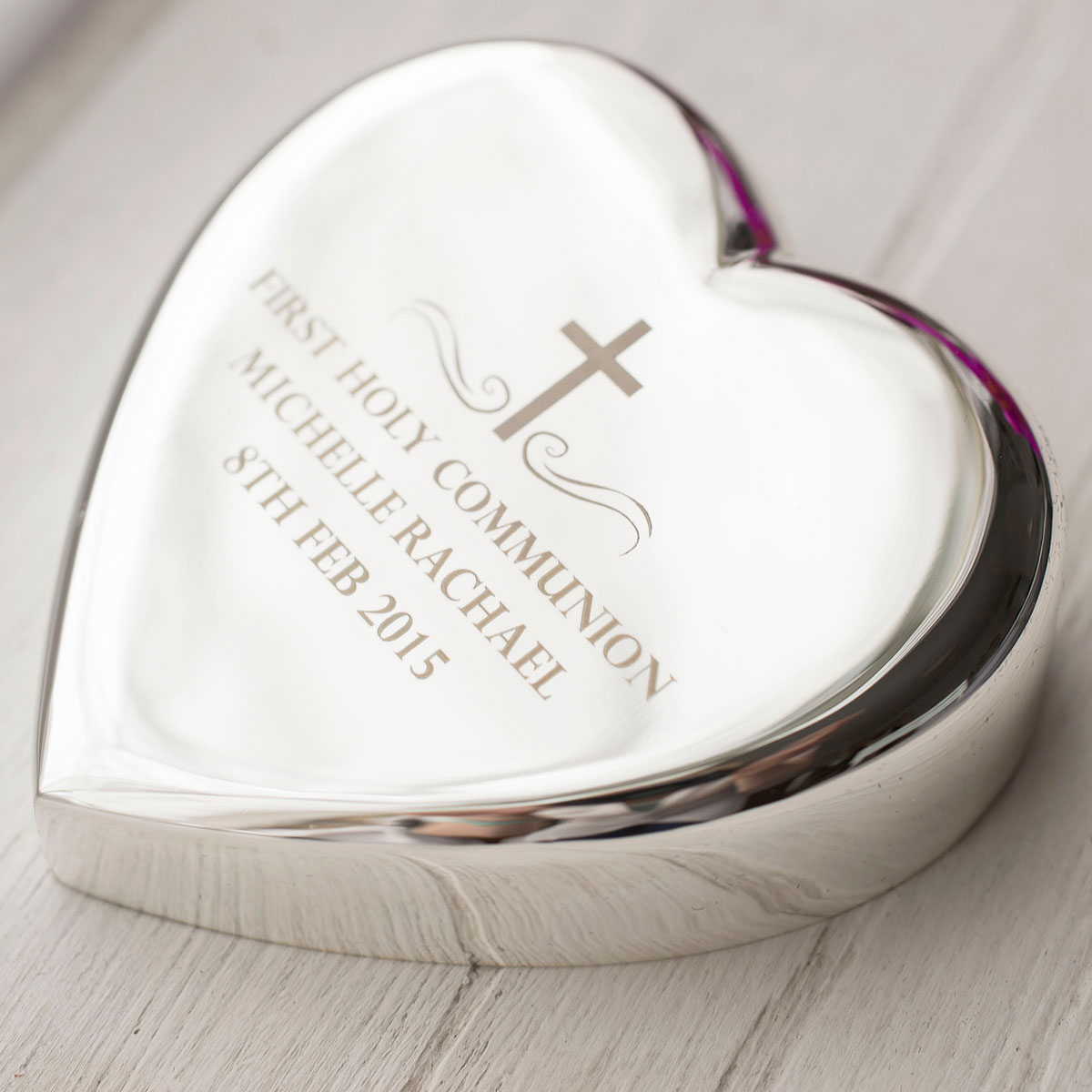 Engraved Heart Paperweight  Holy Communion