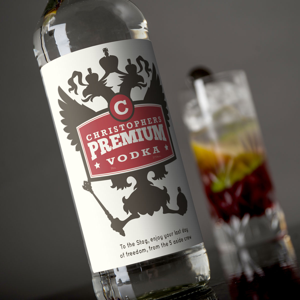 Personalised Vodka  Russian Eagles