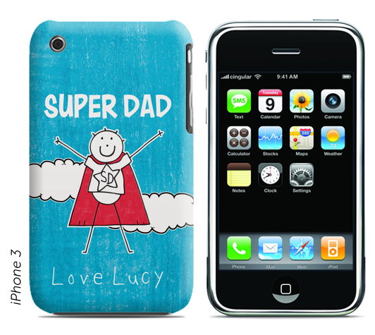 Personalised Purple Ronnie Phone Cover - Super Dad