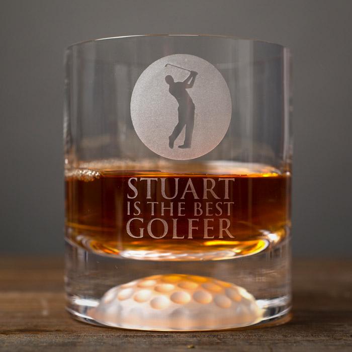 Personalised Golf Whisky Tumbler  Best Golfer
