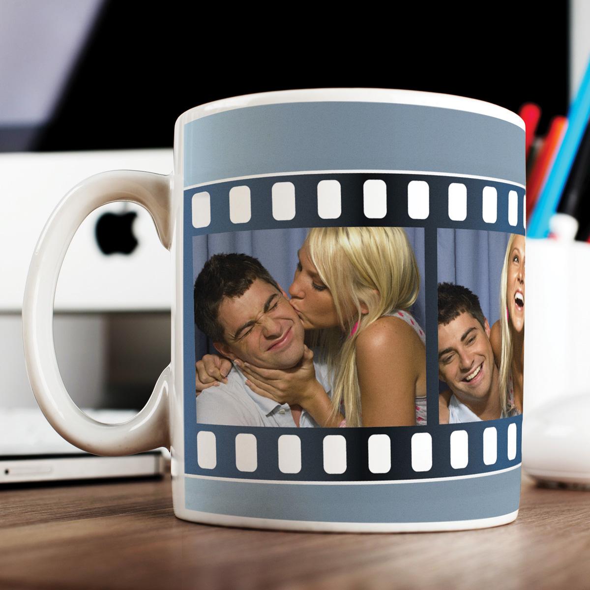 Photo Upload Mug  4 Photos Film Reel