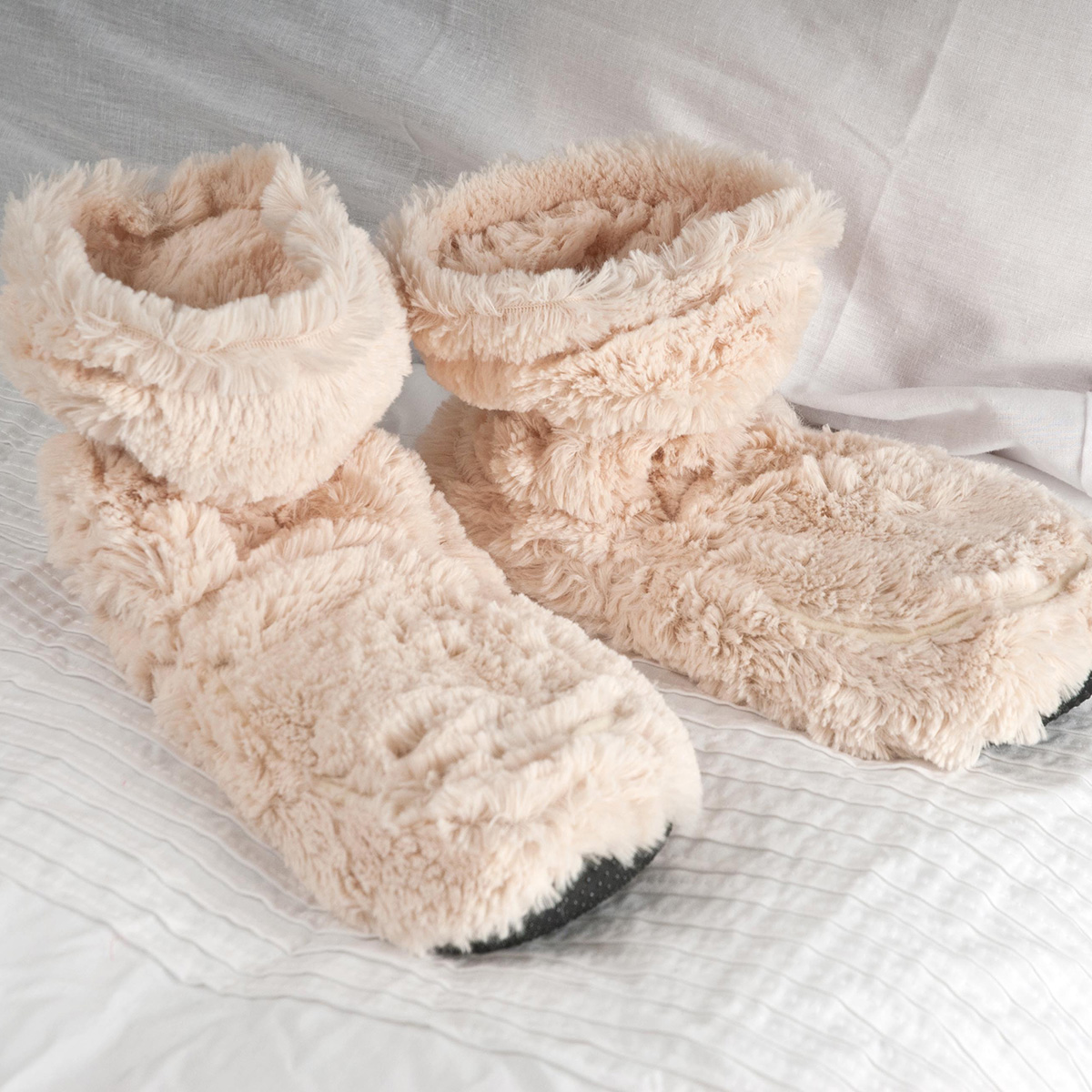 Cozy Boots™ Cream Microwavable Slipper Boots  Mothers Day