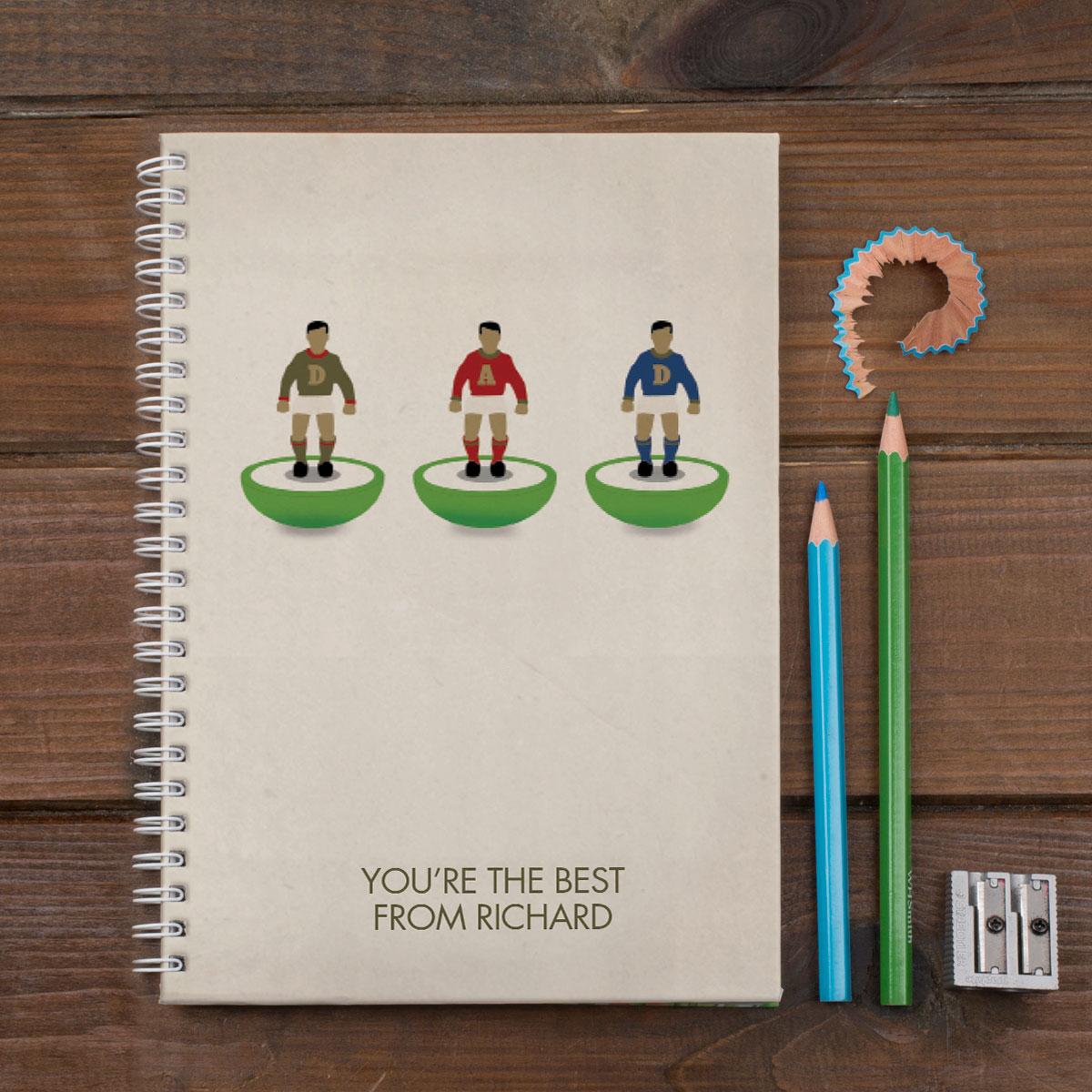 Personalised Notebook  Table Top Football