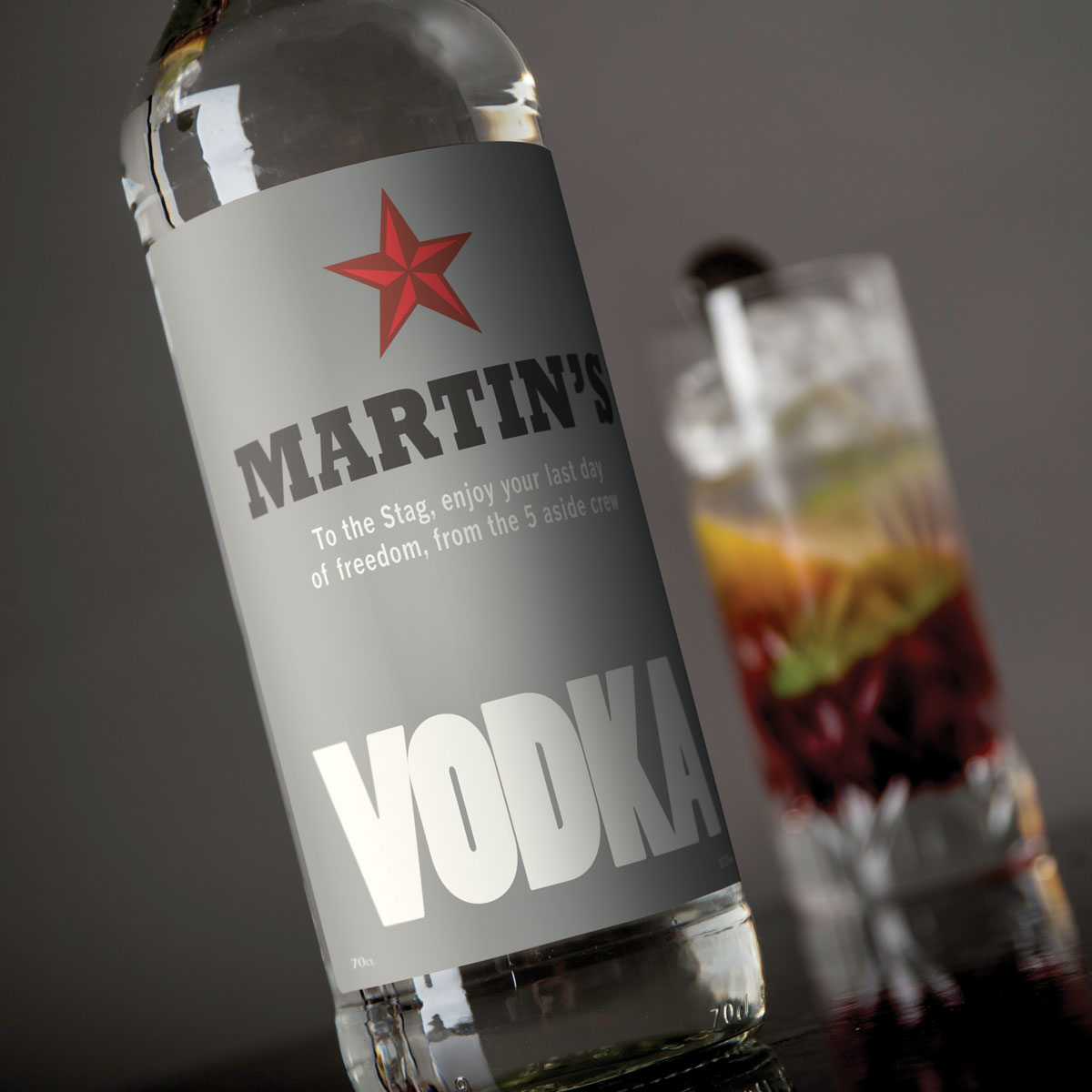 Personalised Vodka  Red Star