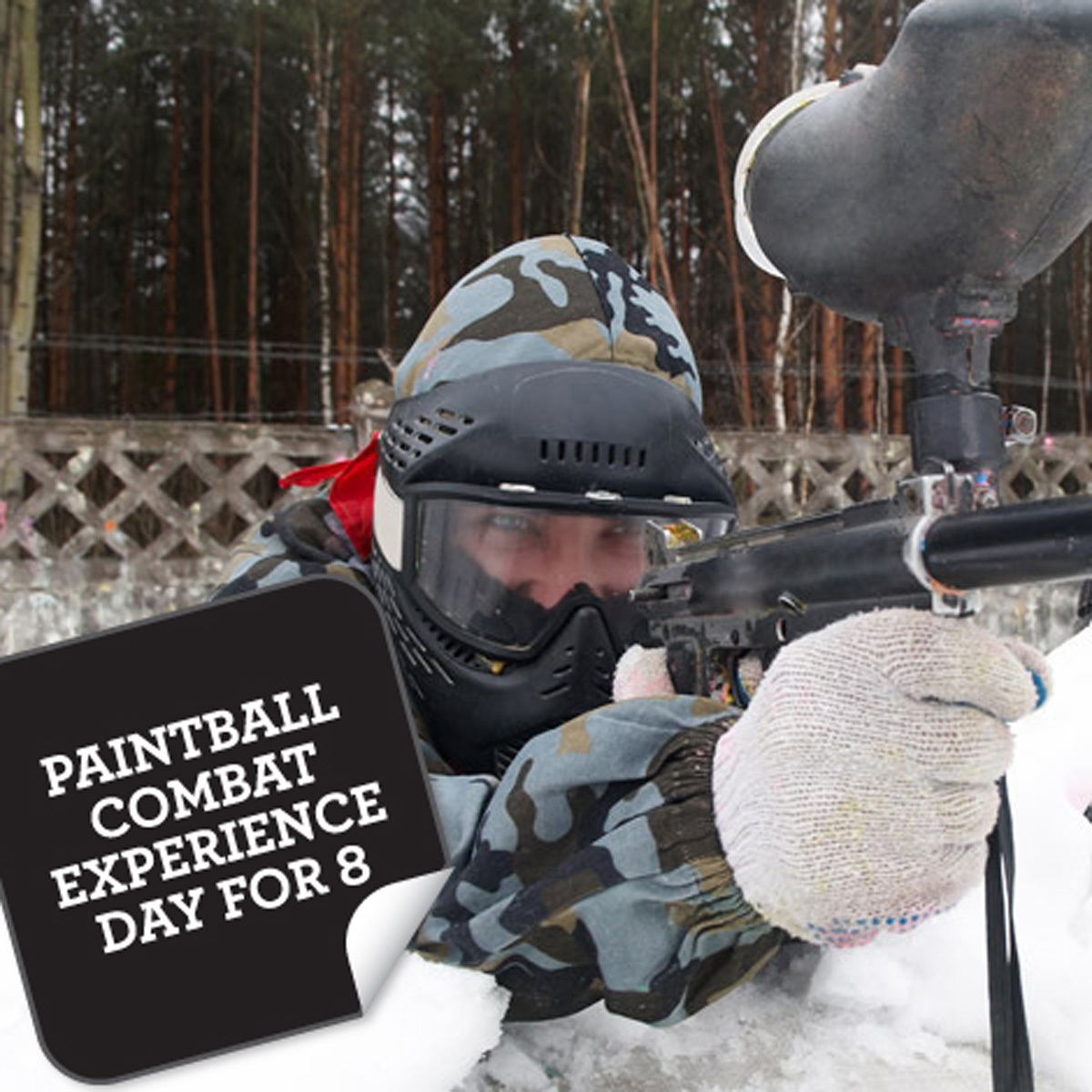 Paintball Combat Experience Day For 8