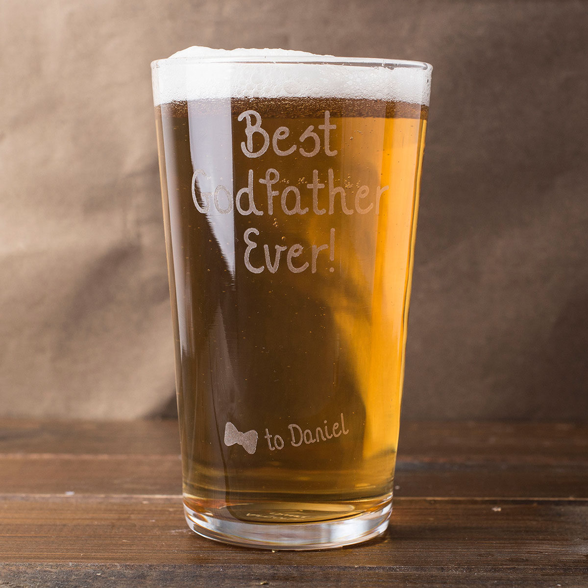 Personalised Pint Glass  Best Godfather Ever
