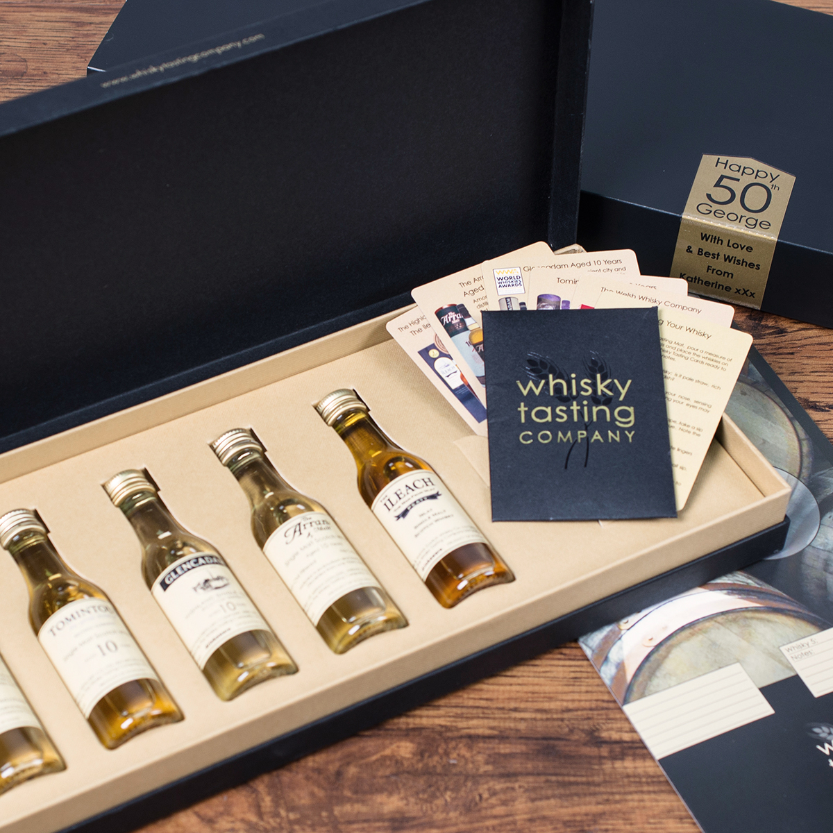 Personalised Set Of 5 Whisky Gift Set  Birthday Edition