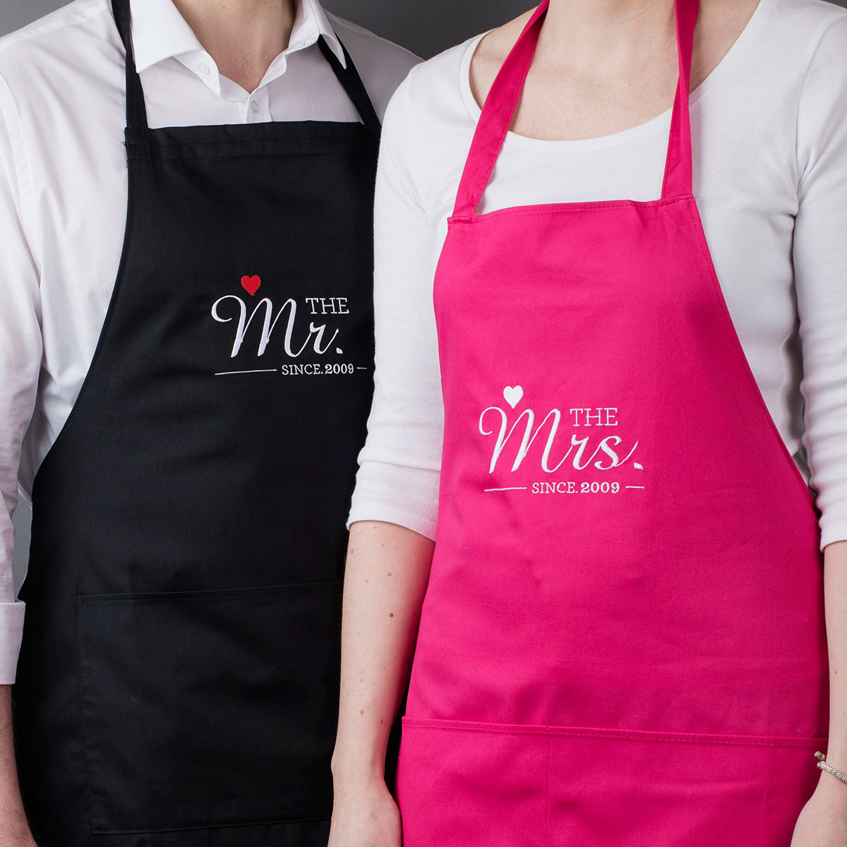 Personalised His & Hers Aprons  Mr & Mrs