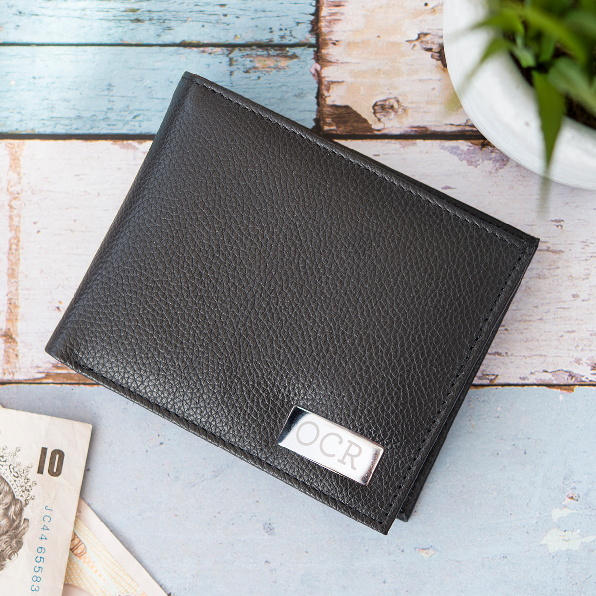Personalised Leather Wallet - Initials