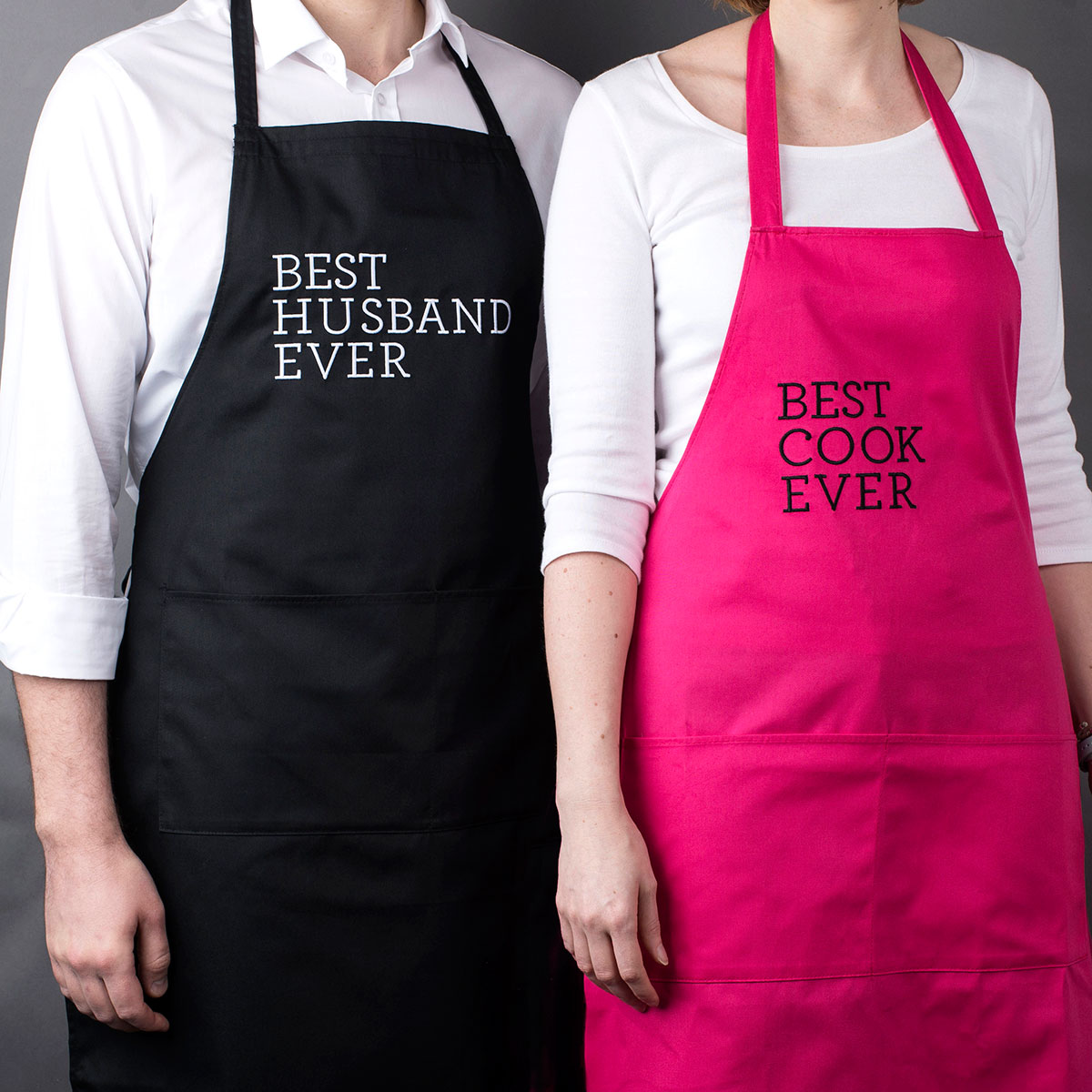 Personalised His & Hers Aprons  Best Ever