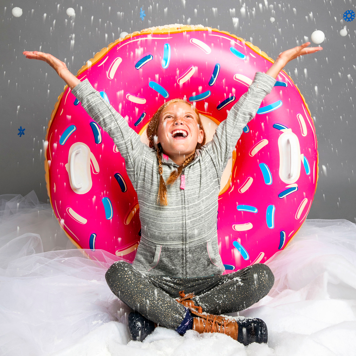 Inflatable Snow Tube - Donut
