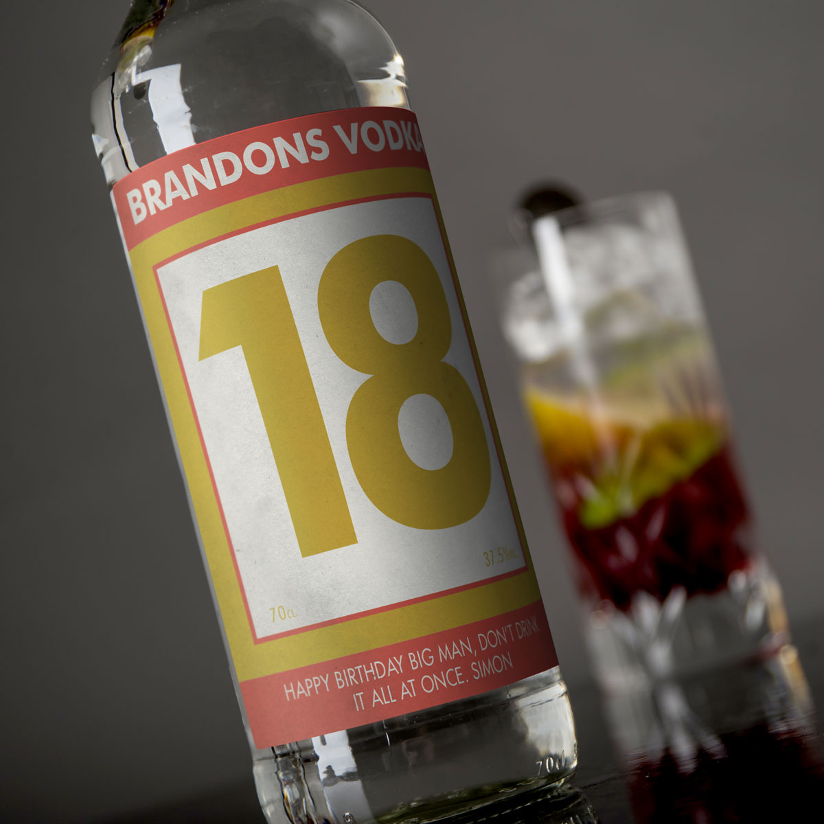 Personalised Vodka  18th Birthday