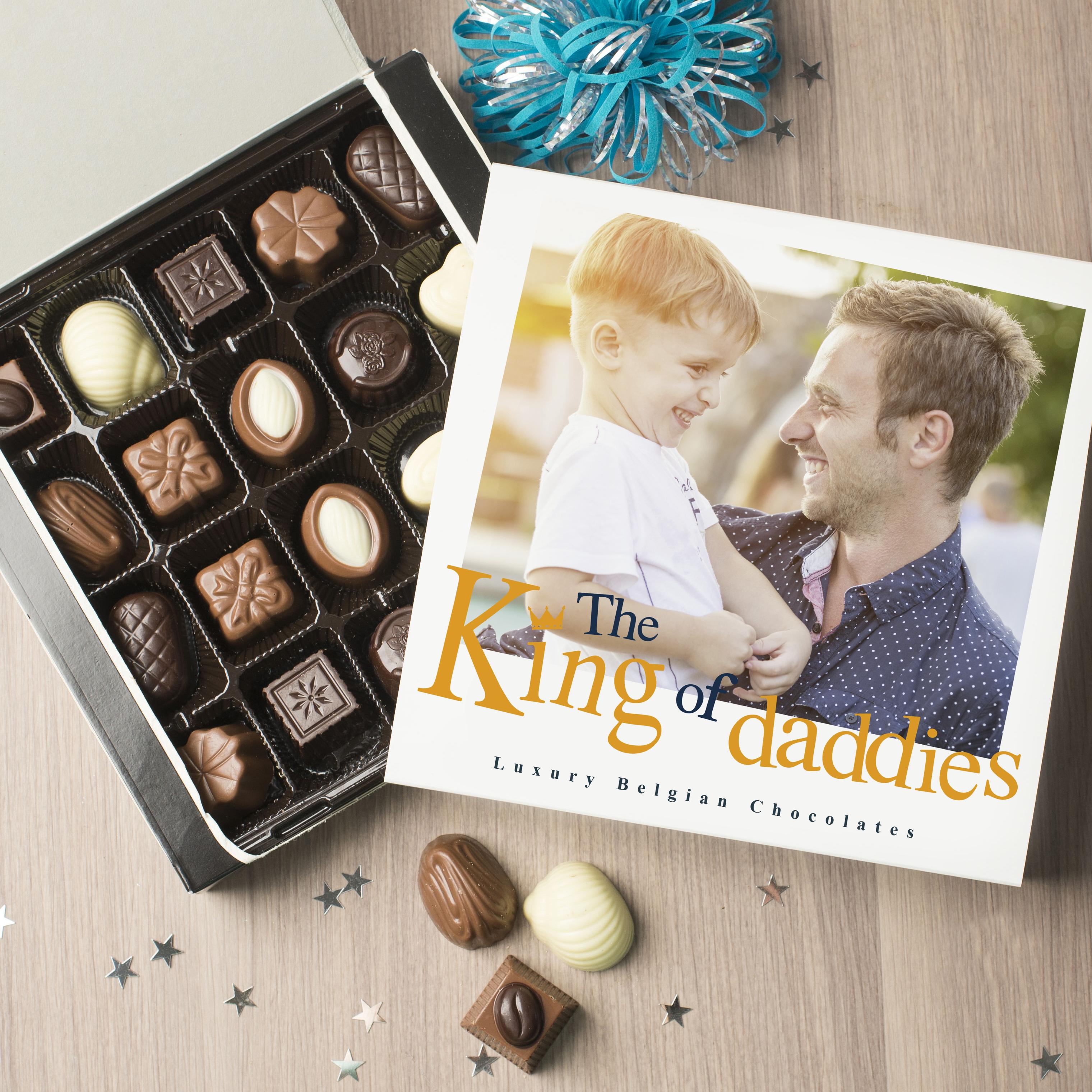Photo Upload Belgian Chocolates - King Of Daddies