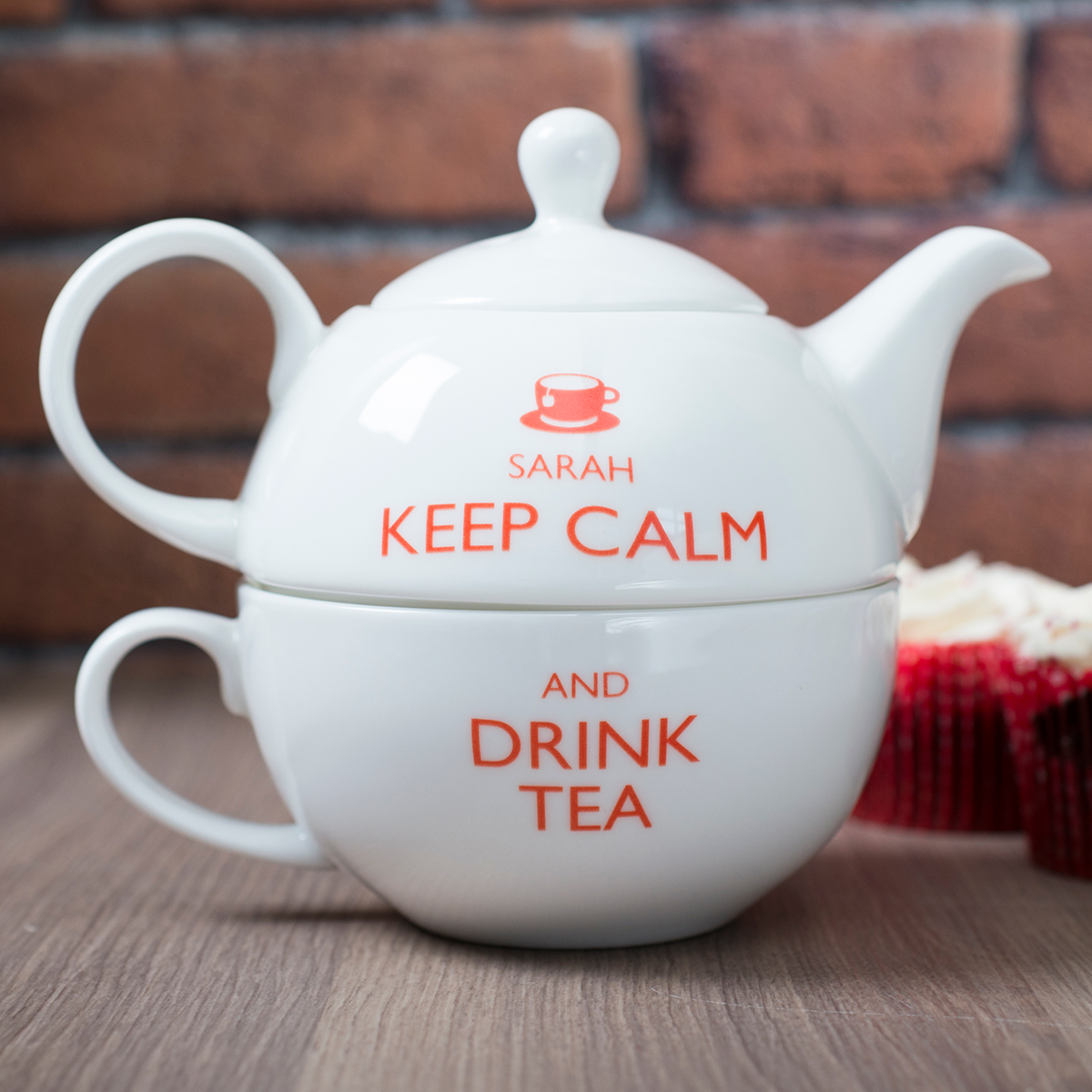 Personalised Teapot For One  Keep Calm