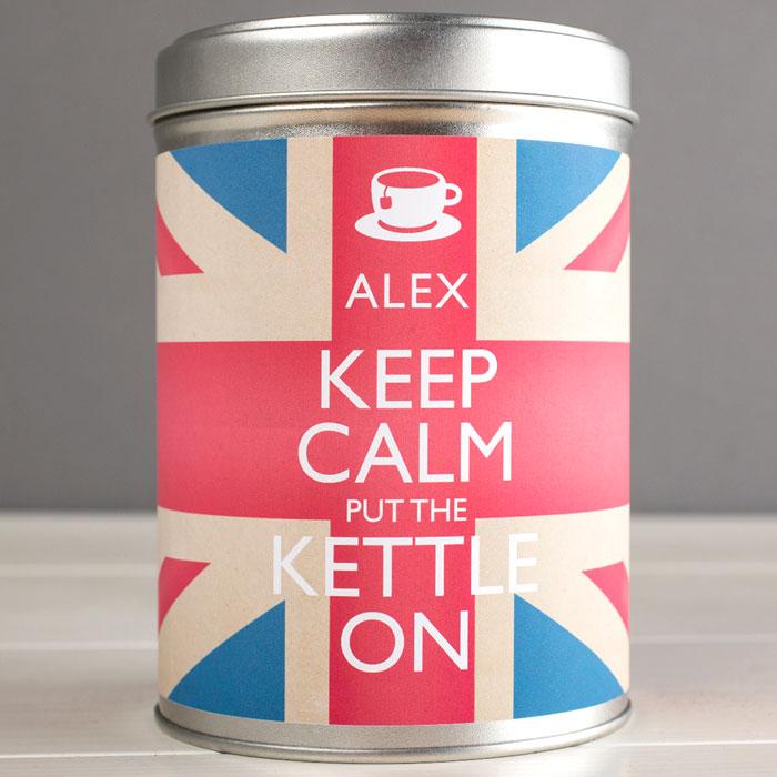 Personalised Tea  Keep Calm Put The Kettle On