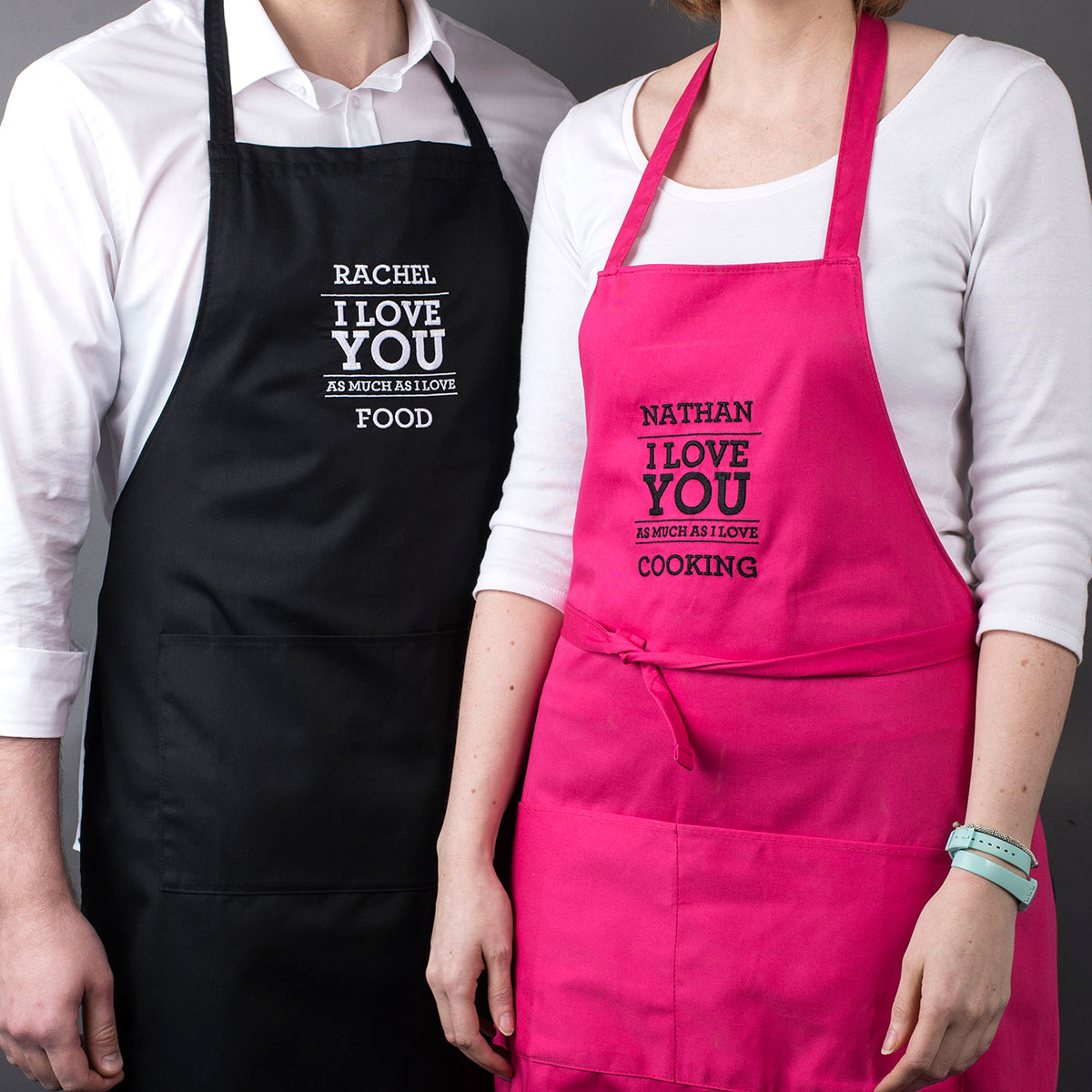 Personalised His & Hers Aprons  As Much As