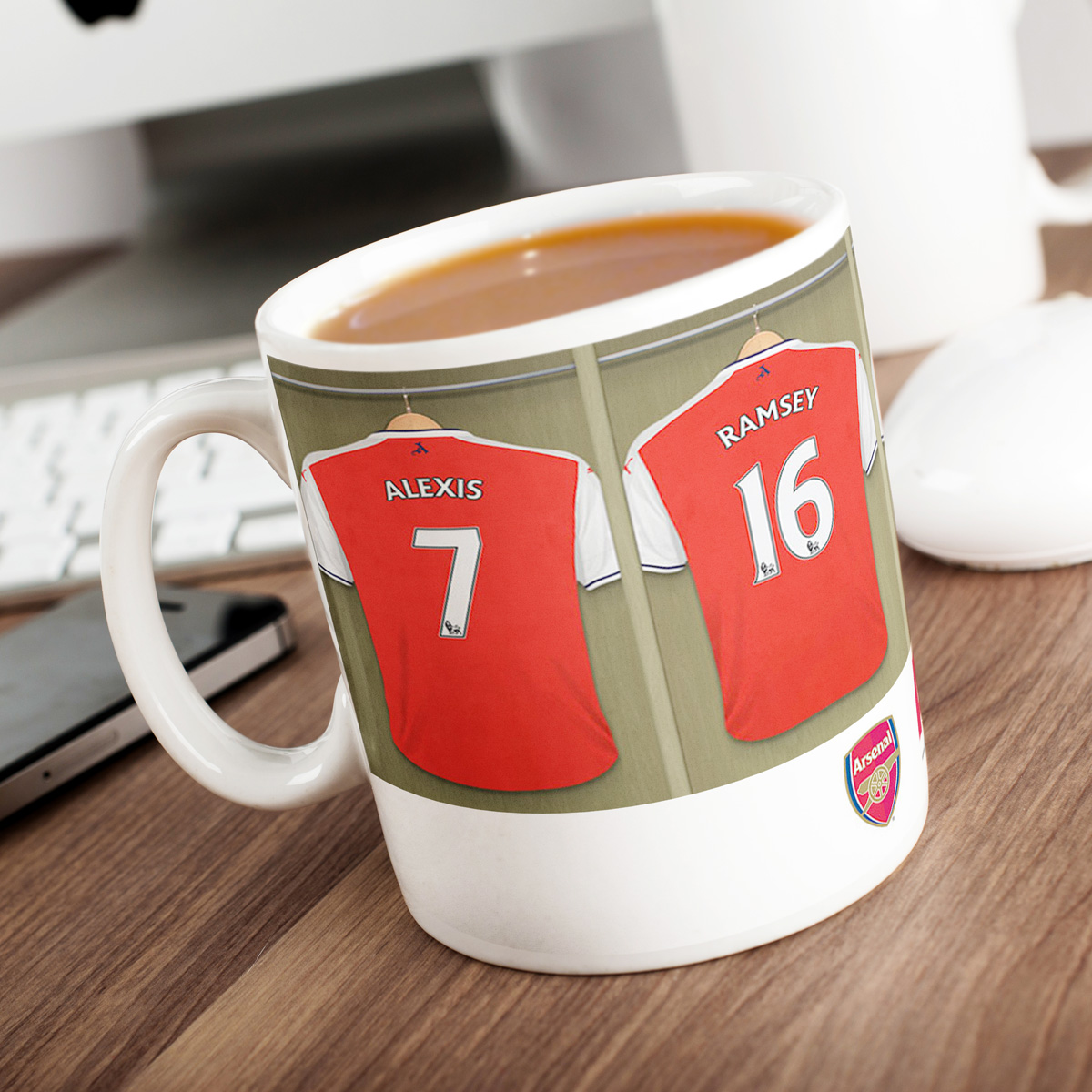 Image of Personalised Arsenal Mug