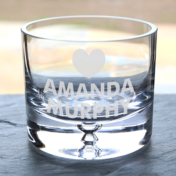 Personalised Glass Bowl  Heart
