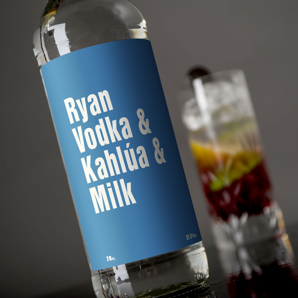 Personalised Vodka  Mixers for Him
