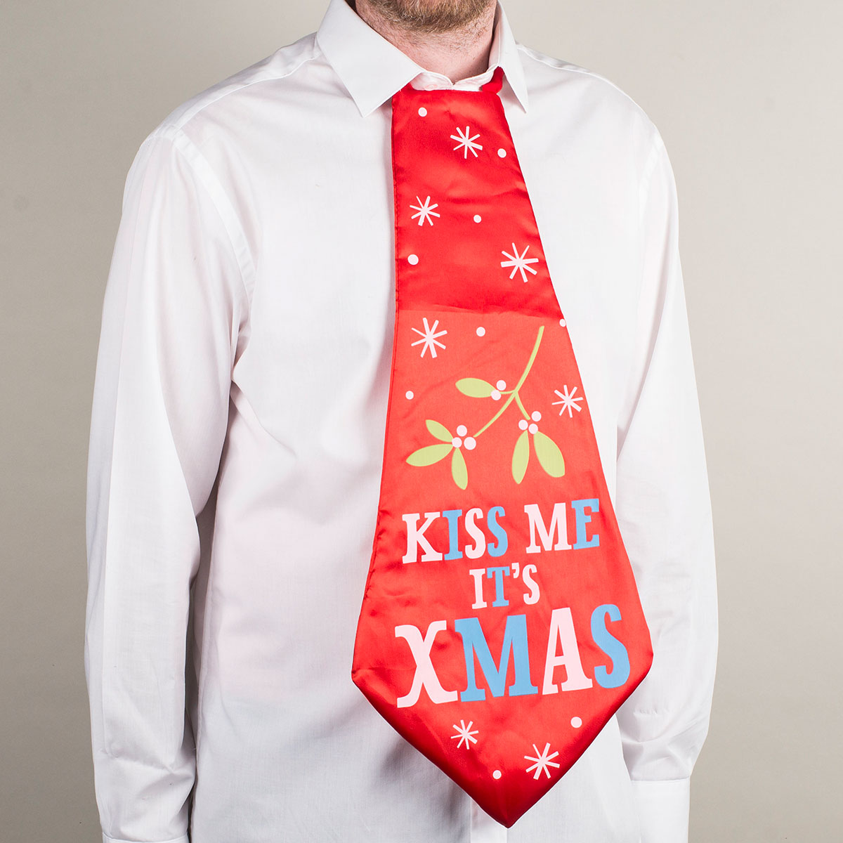 Kiss Me It's Christmas Tie