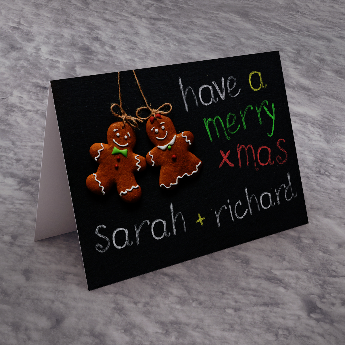 Personalised Christmas Card - Christmas Chalk Board
