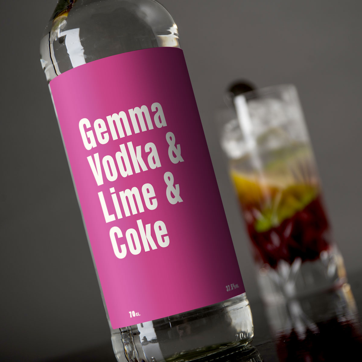 Personalised Vodka  Mixers for Her