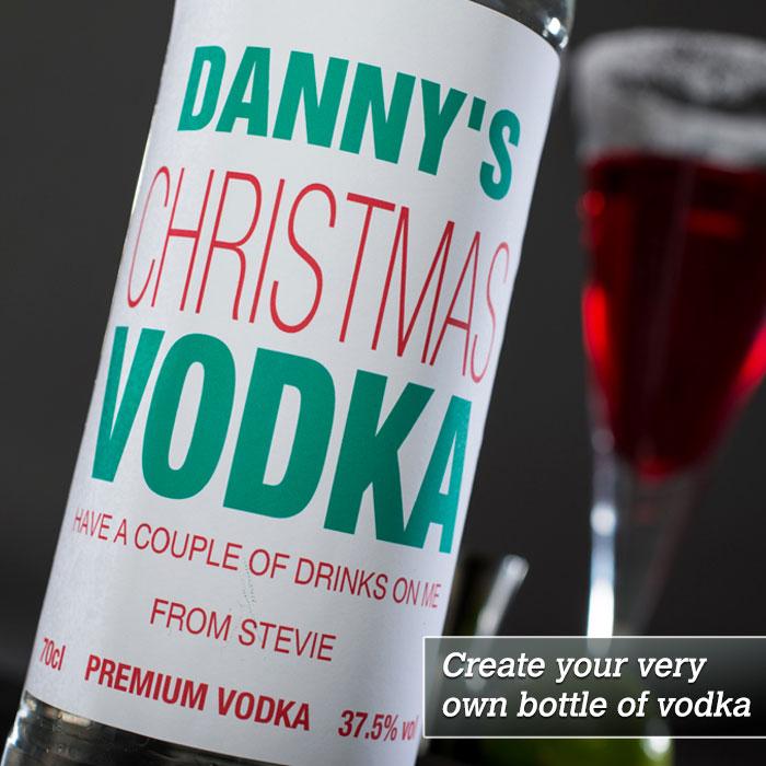 Personalised Vodka  Christmas Vodka
