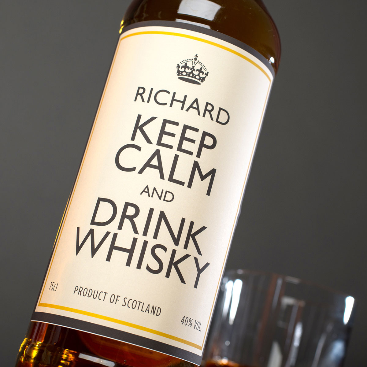 Personalised Malt Whisky  Keep Calm And Drink Whisky