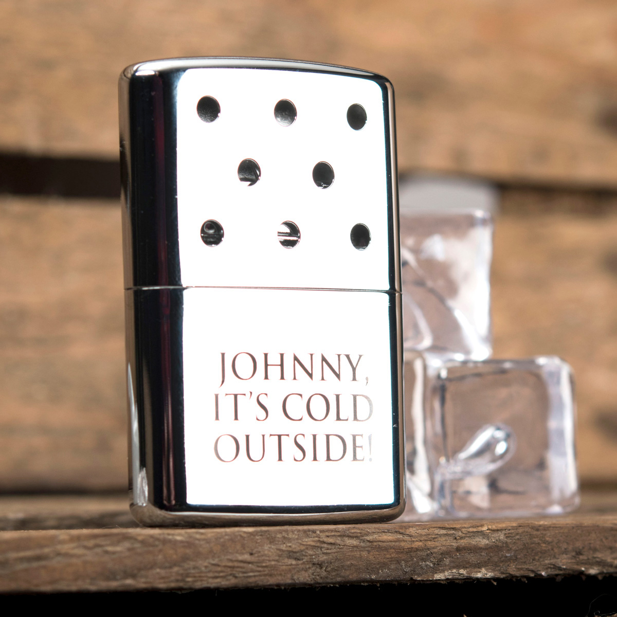 Personalised Zippo Hand Warmer  Cold Outside