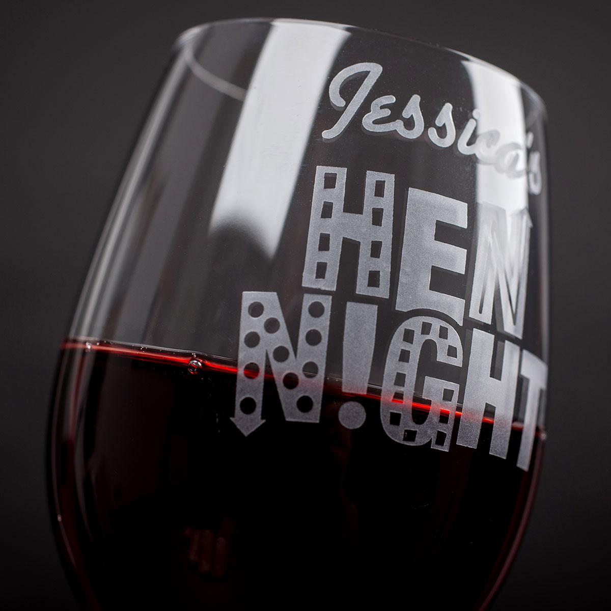 Personalised Wine Glass  Hen Night