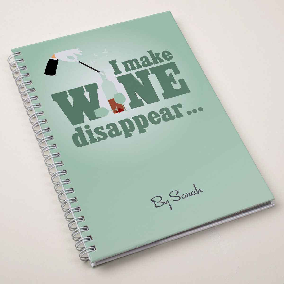 Personalised Notebook  Make Wine Disappear